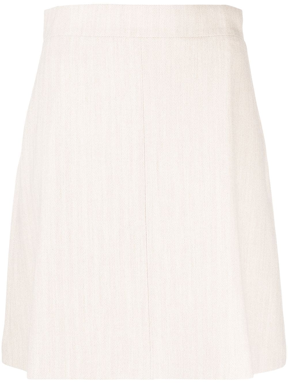 12 STOREEZ knitted mini skirt - Neutrals von 12 STOREEZ