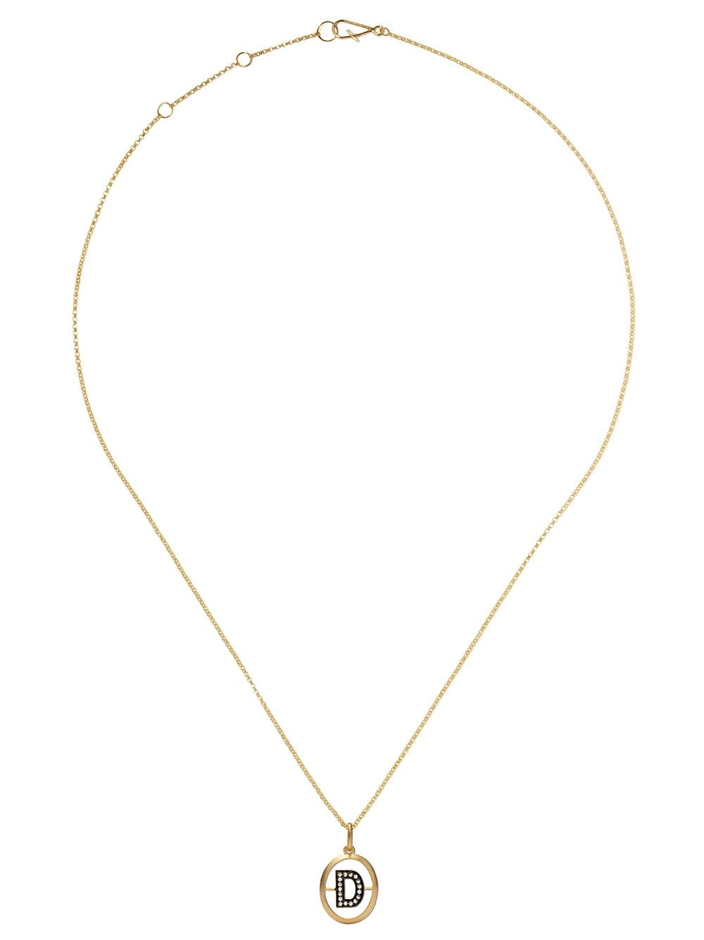 Annoushka 18kt yellow gold diamond initial D necklace - 18ct Yellow Gold von Annoushka