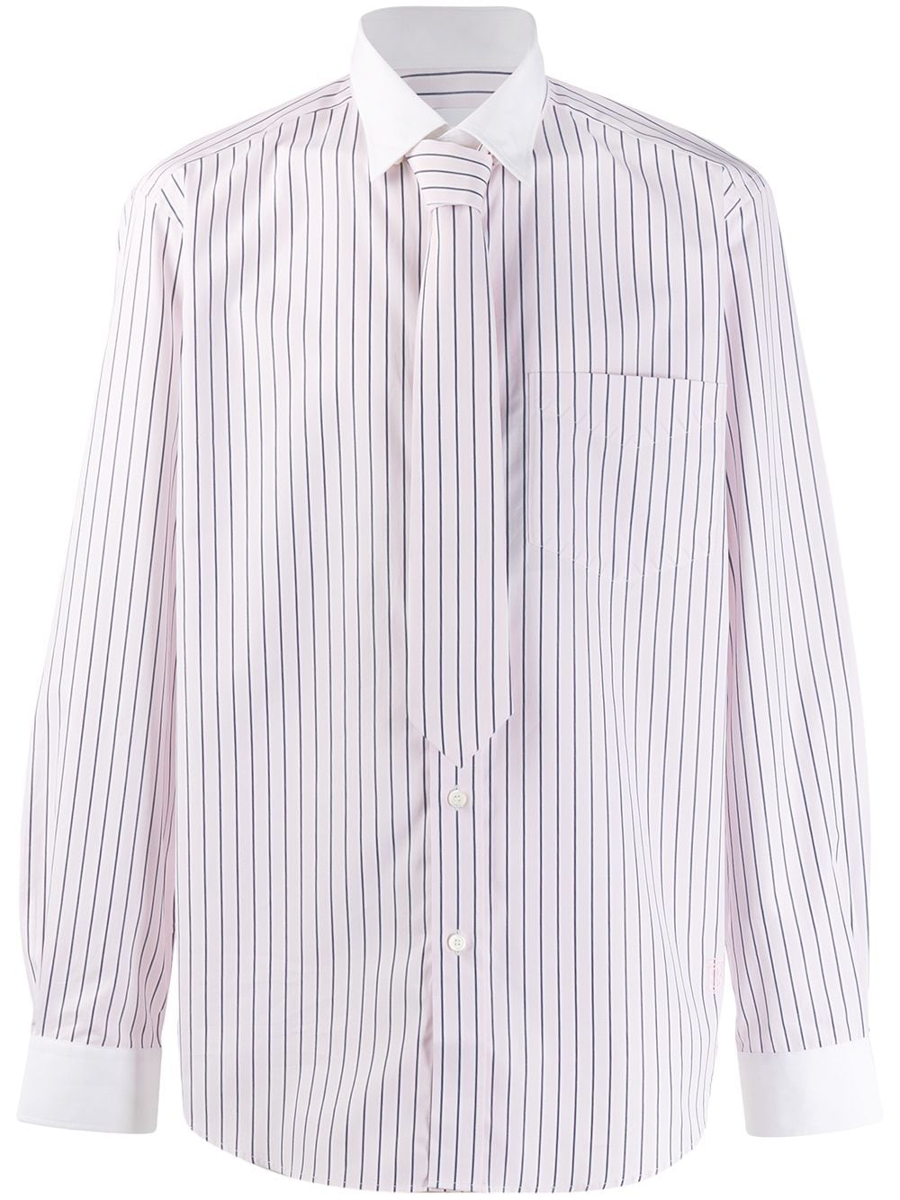 Burberry classic fit monogram motif striped shirt - PINK von Burberry