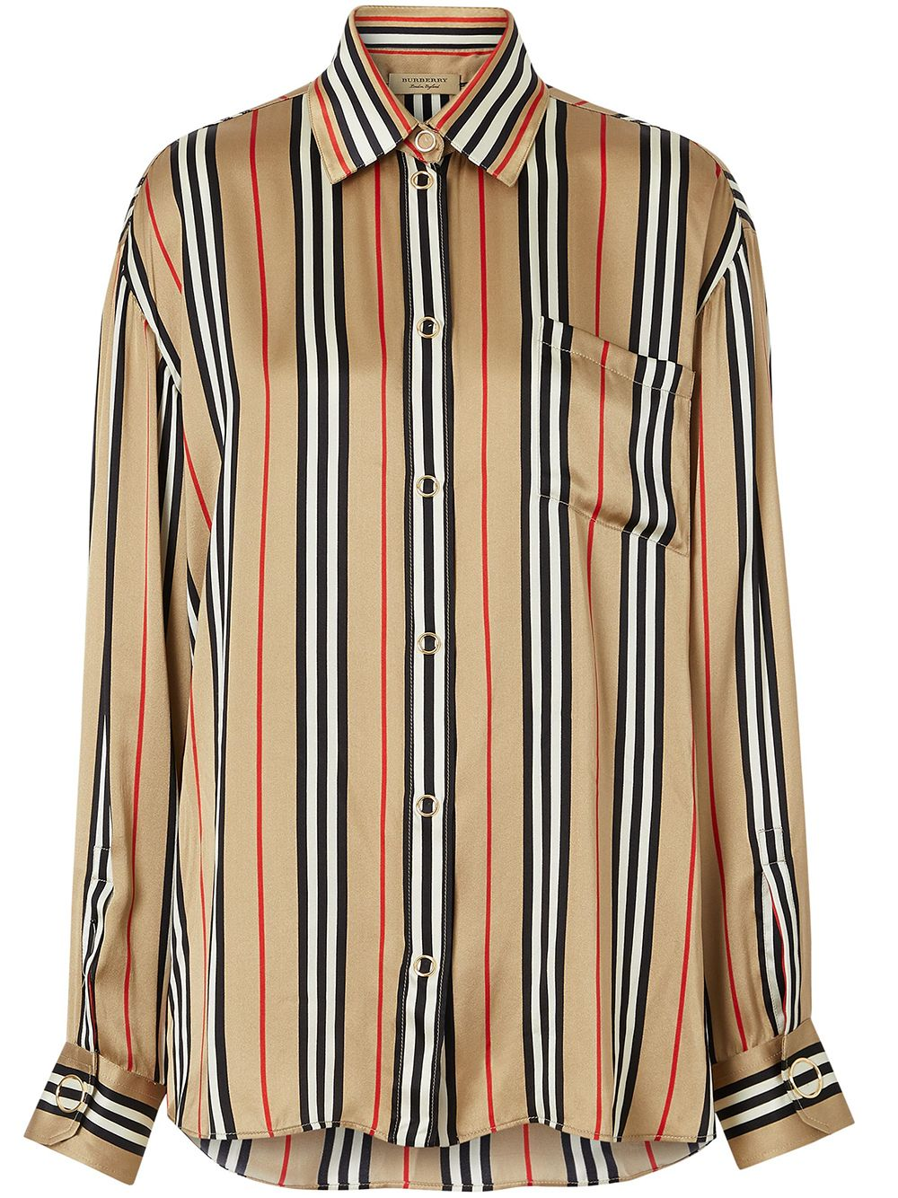 Burberry Icon oversized shirt - Brown von Burberry