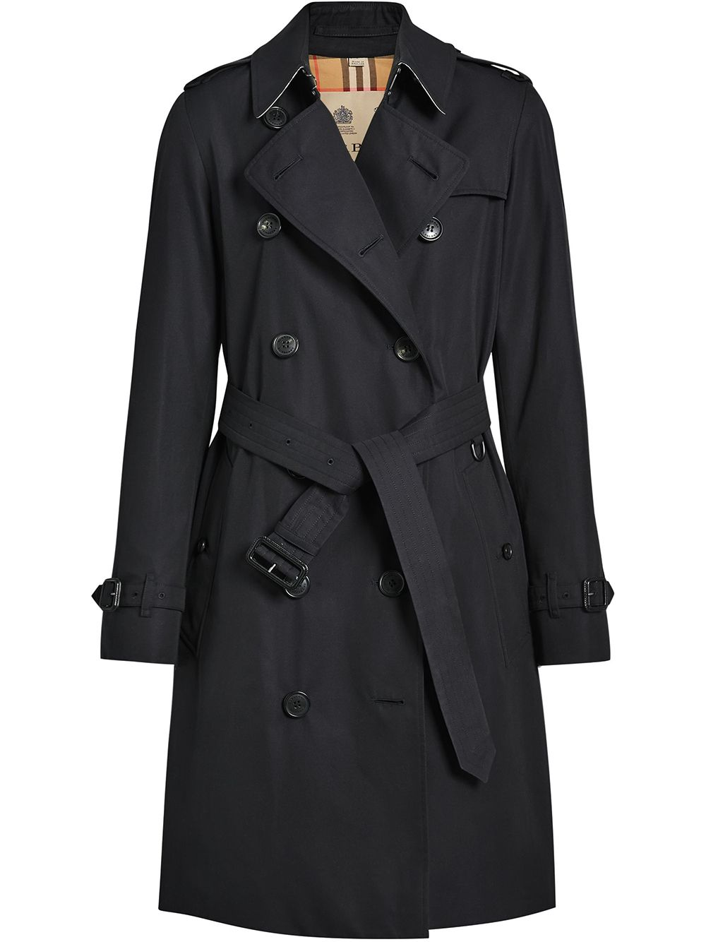 Burberry The Kensington Heritage Trench Coat - Blue von Burberry
