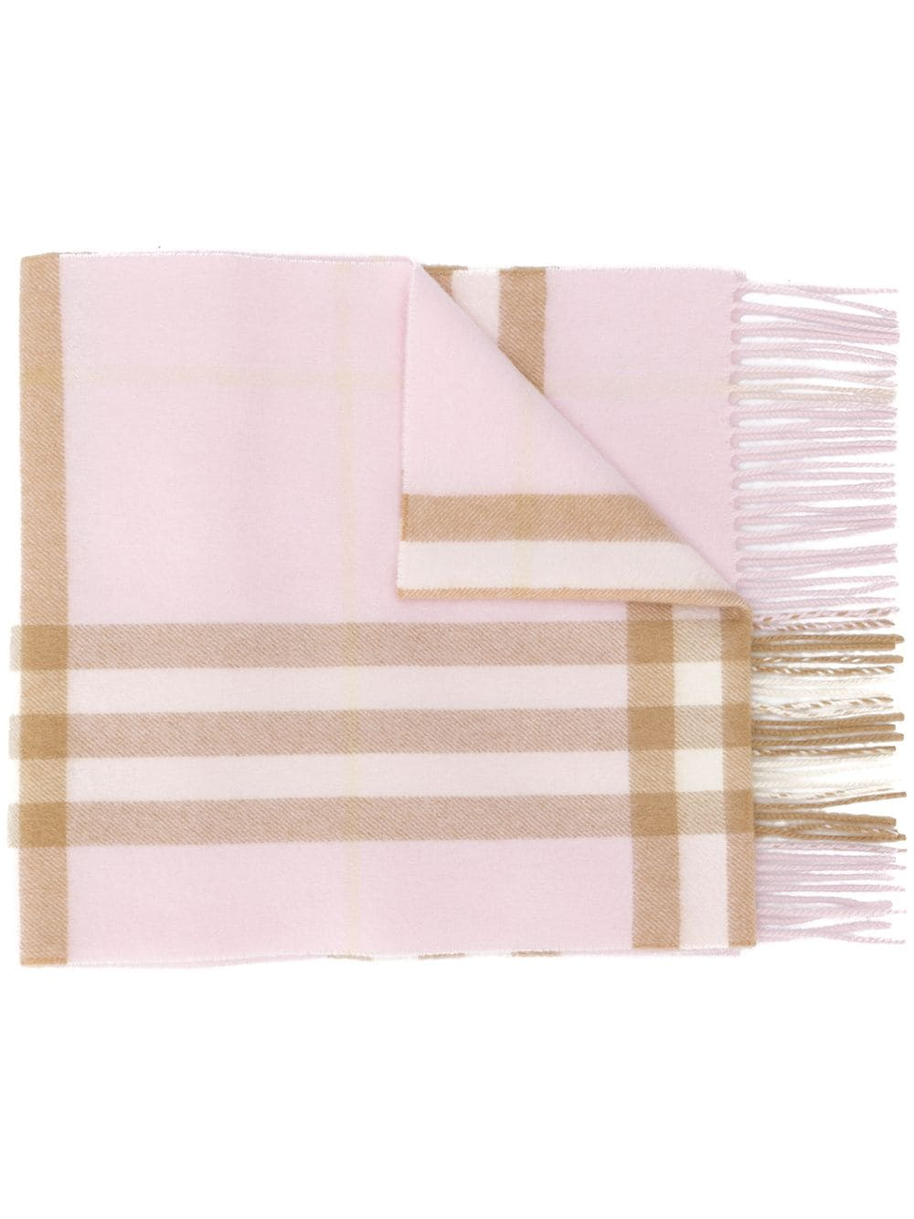 Burberry cashmere check scarf - PINK von Burberry