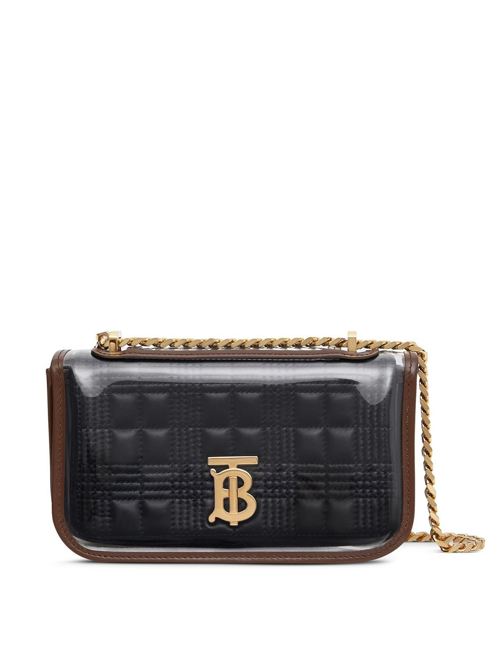 Burberry transparent cover quilted Lola mini bag - Black von Burberry
