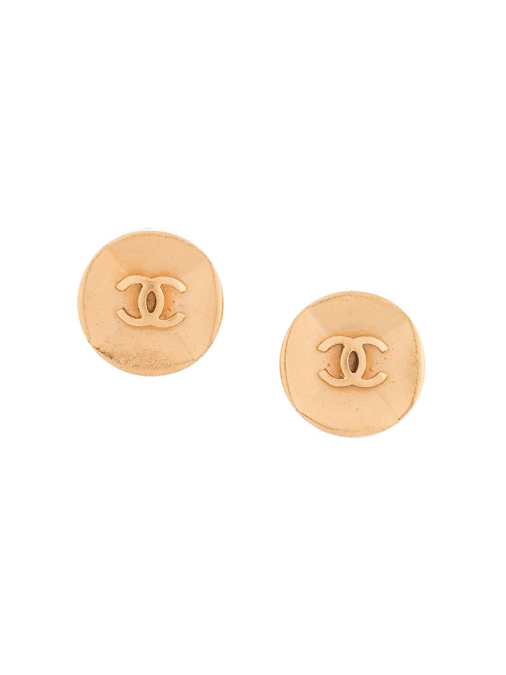 Chanel Pre-Owned 1993 CC button clip-on earrings - Gold von Chanel Pre-Owned