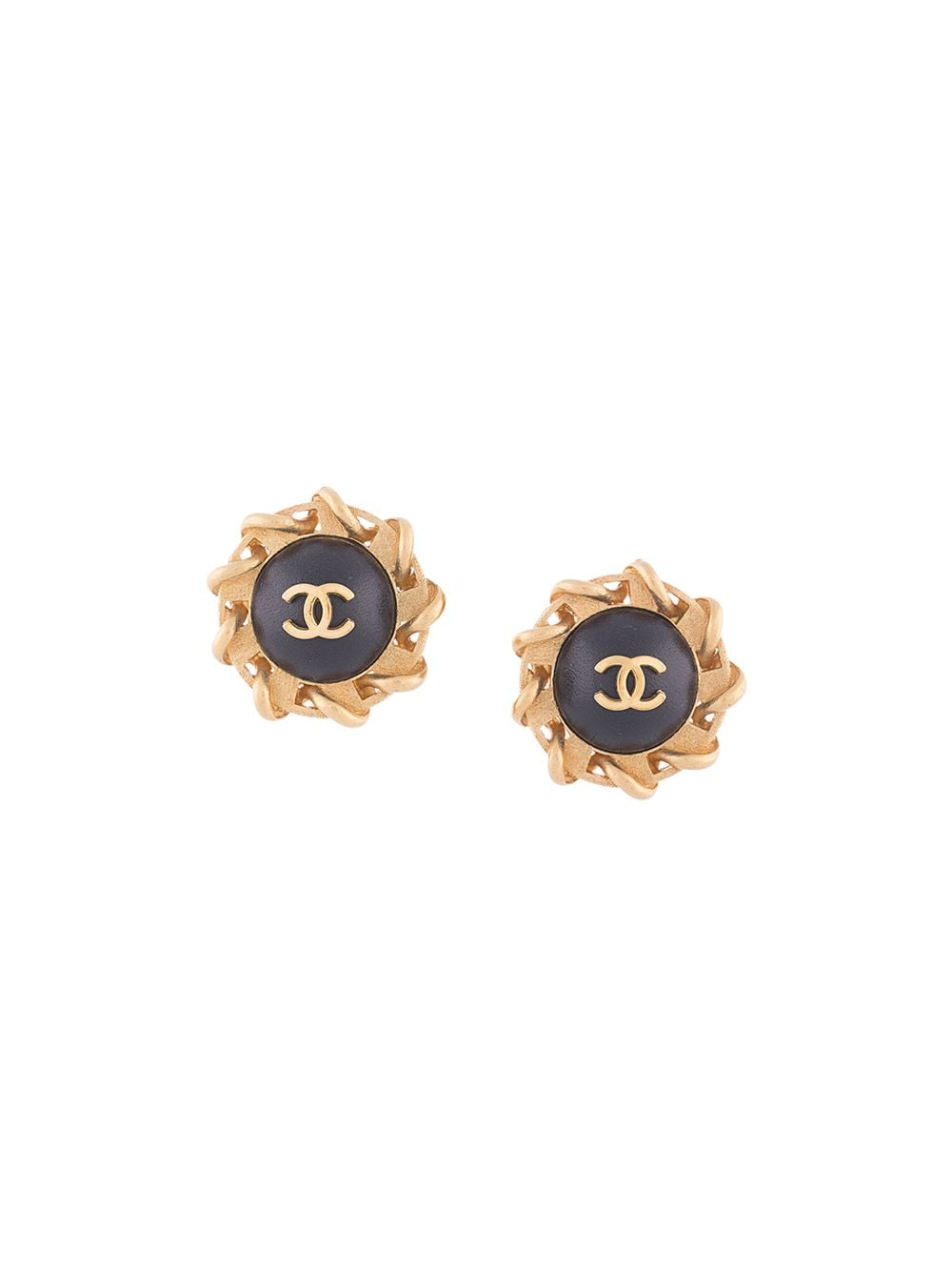 Chanel Pre-Owned sun motif CC earrings - GOLD von Chanel Pre-Owned
