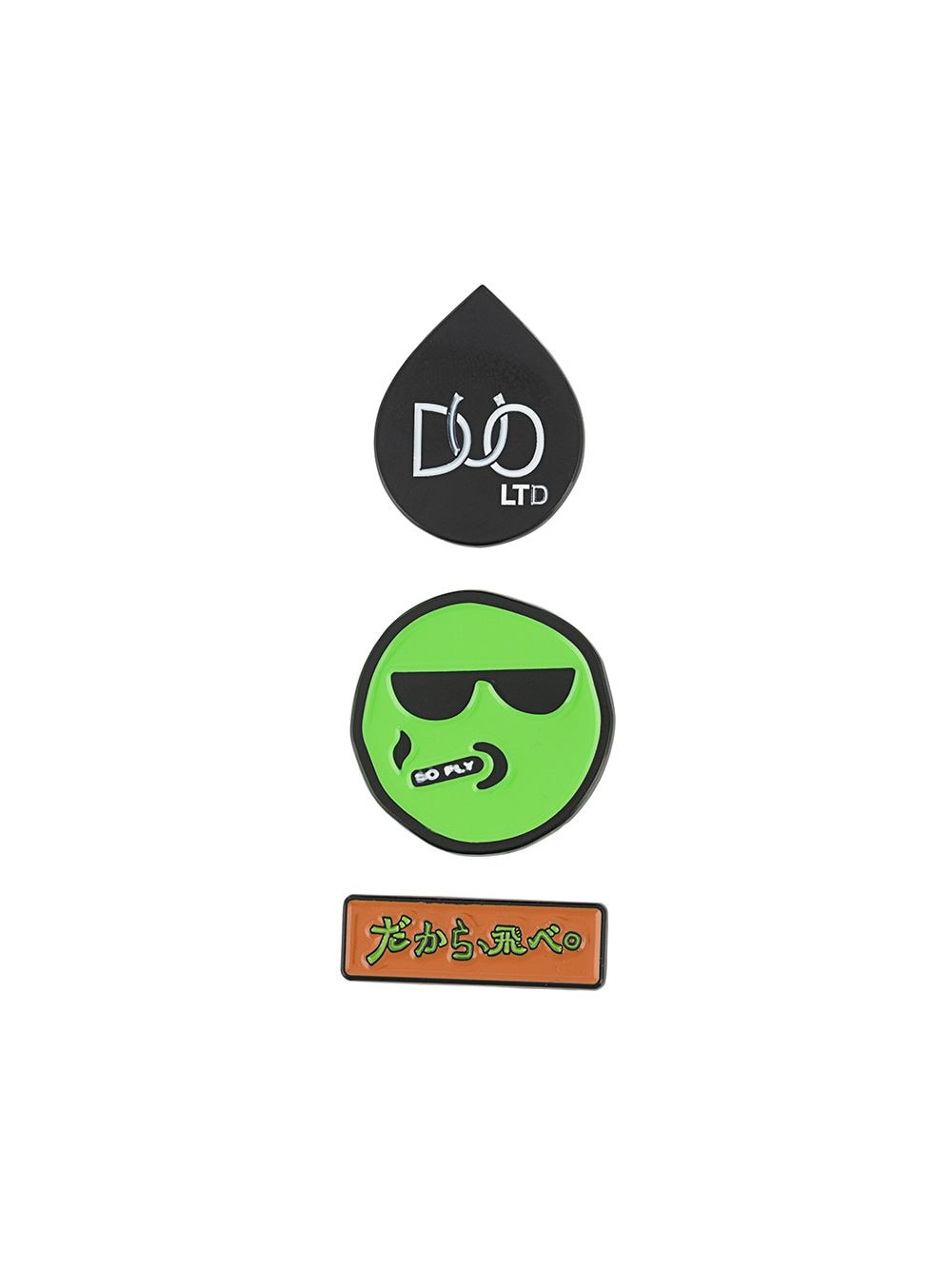 DUOltd Smiley pin set - Green von DUOltd