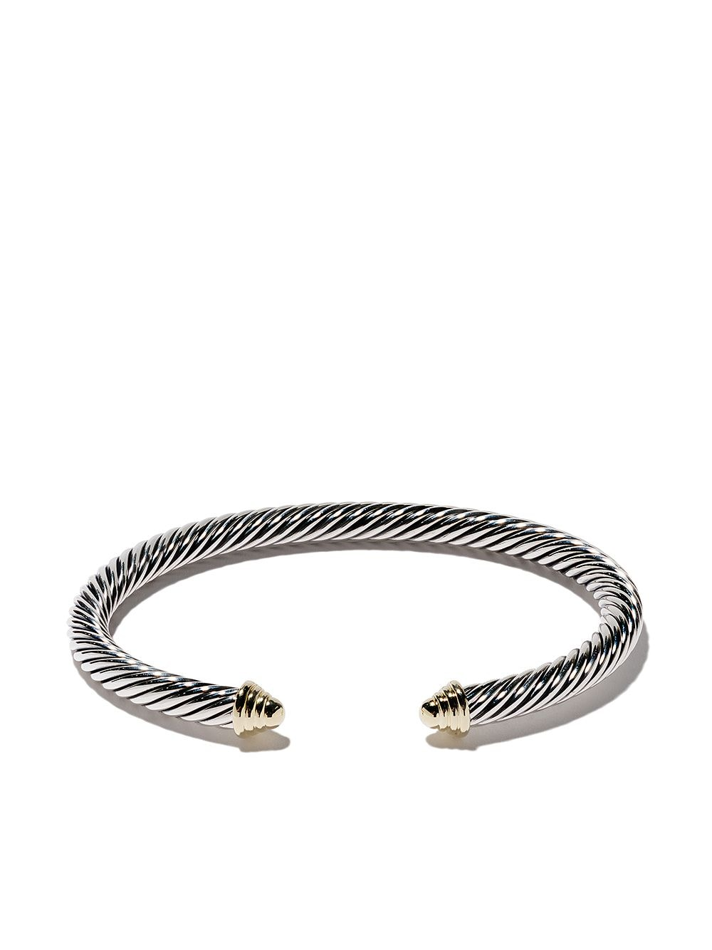 David Yurman Cable Classics sterling silver & 14kt yellow gold accented cuff bracelet - S4 von David Yurman