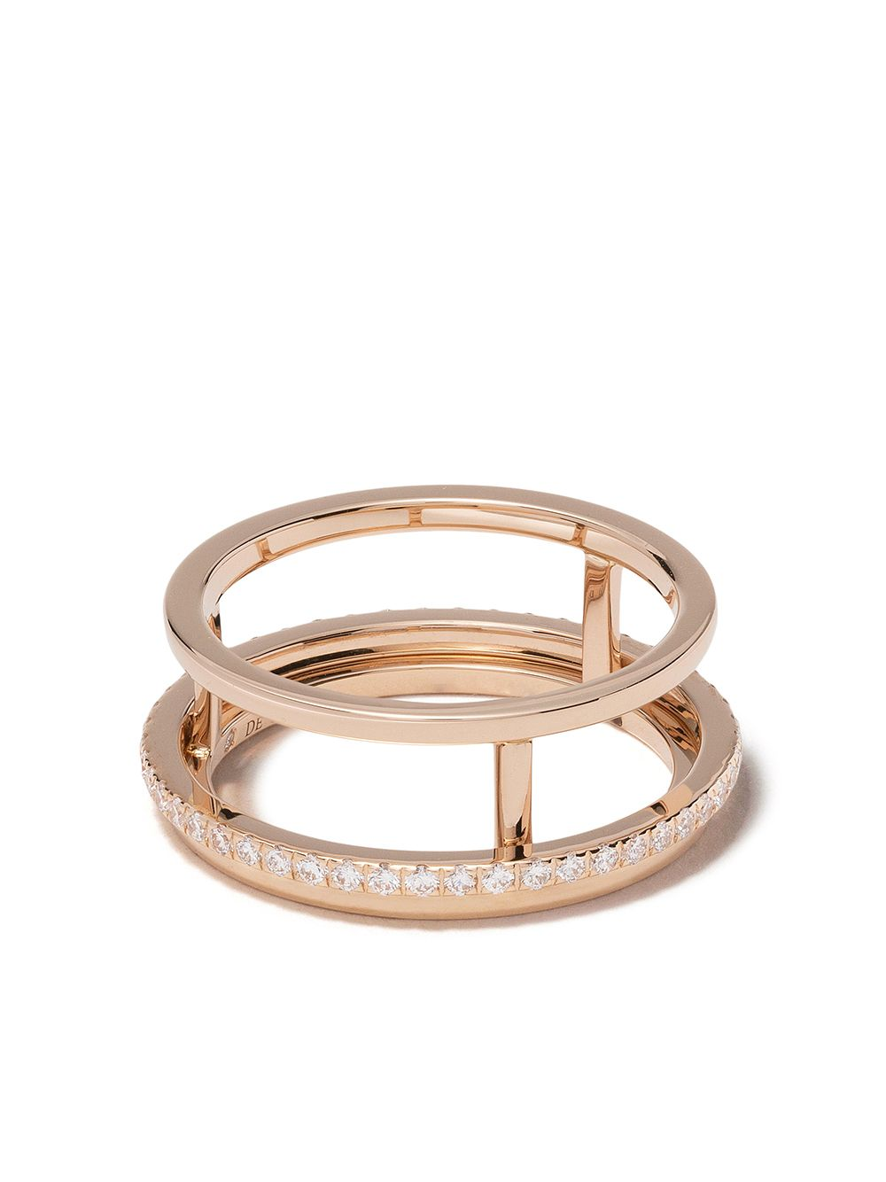 De Beers 18kt rose gold The Horizon diamond band von De Beers