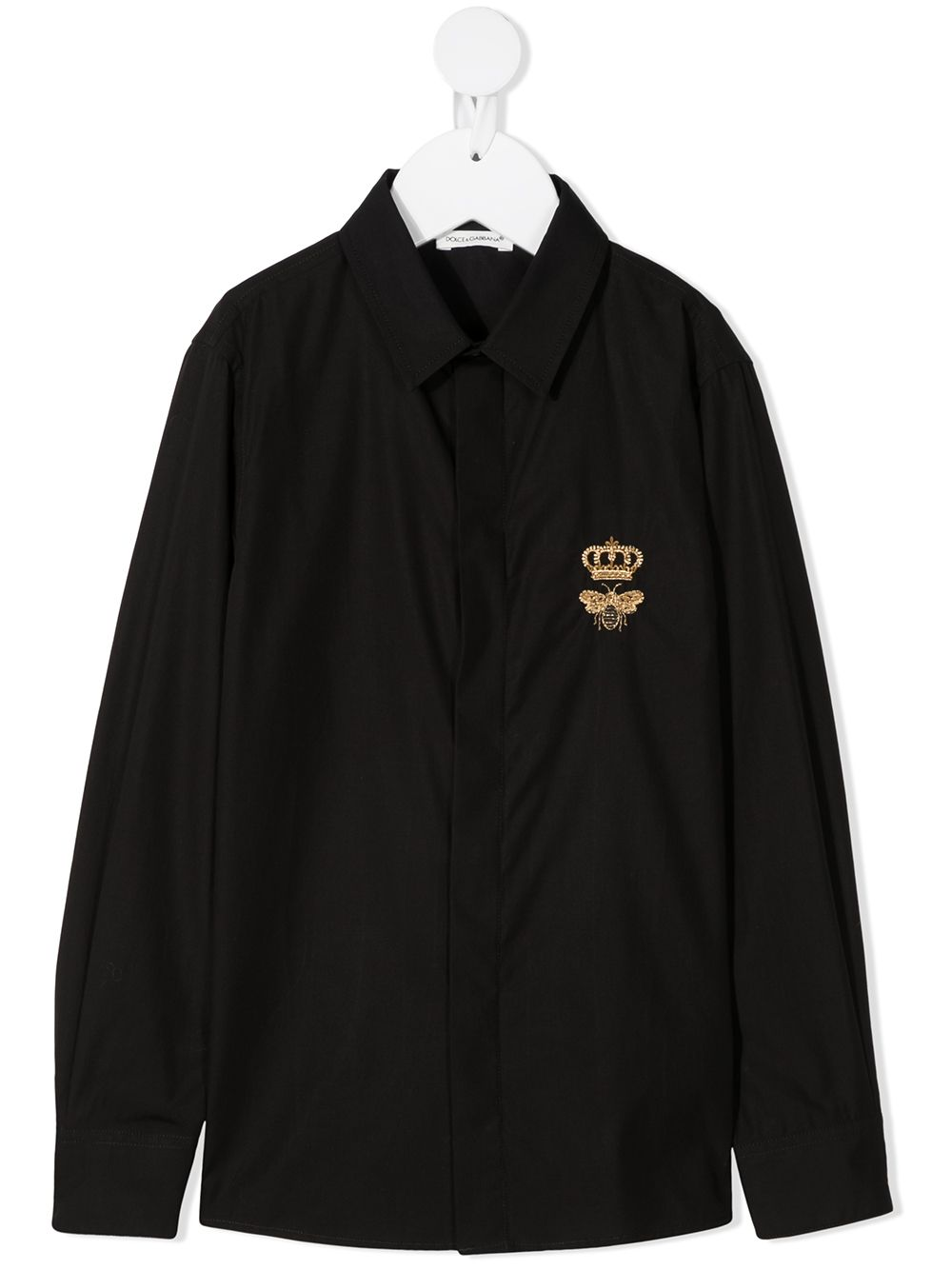 Dolce & Gabbana Kids logo-print long-sleeved shirt - Black von Dolce & Gabbana Kids