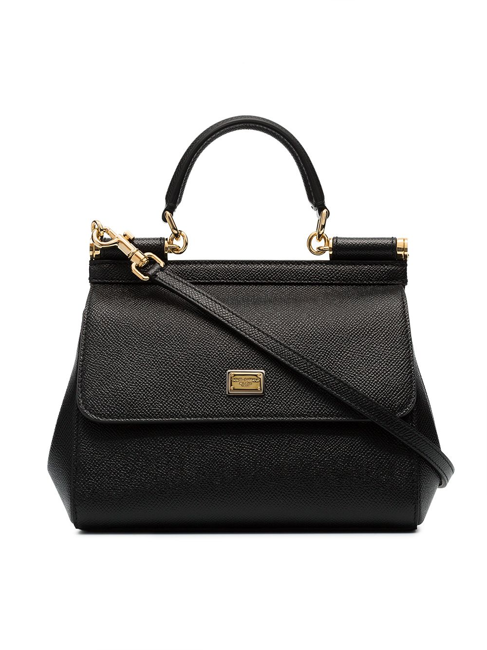 Dolce & Gabbana black sicily small leather bag von Dolce & Gabbana