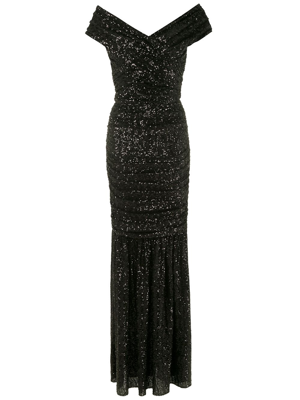 Dolce & Gabbana long sequined dress - Black von Dolce & Gabbana
