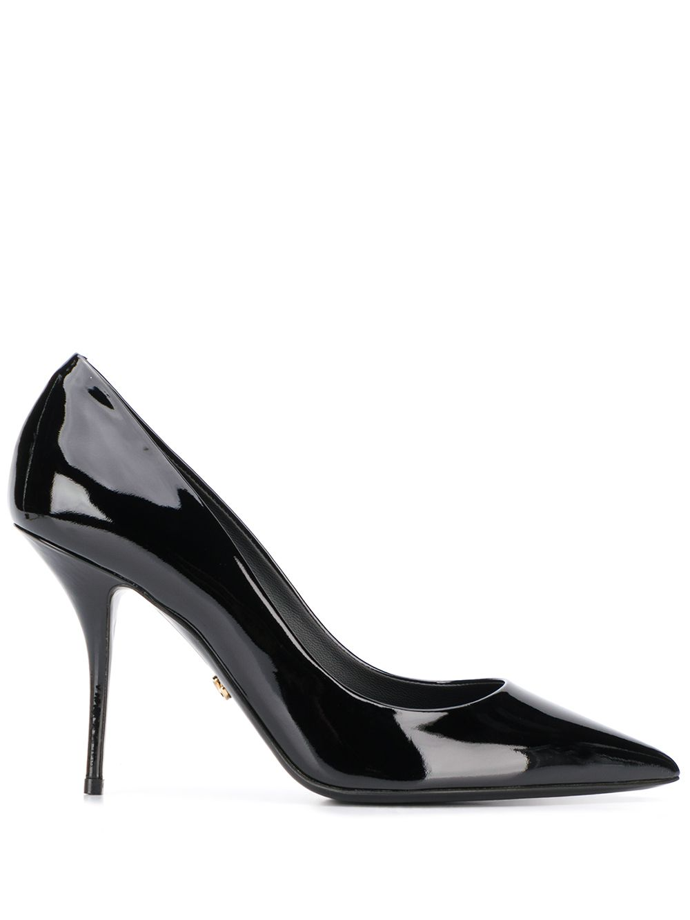 Dolce & Gabbana polished leather pointed pumps - Black von Dolce & Gabbana
