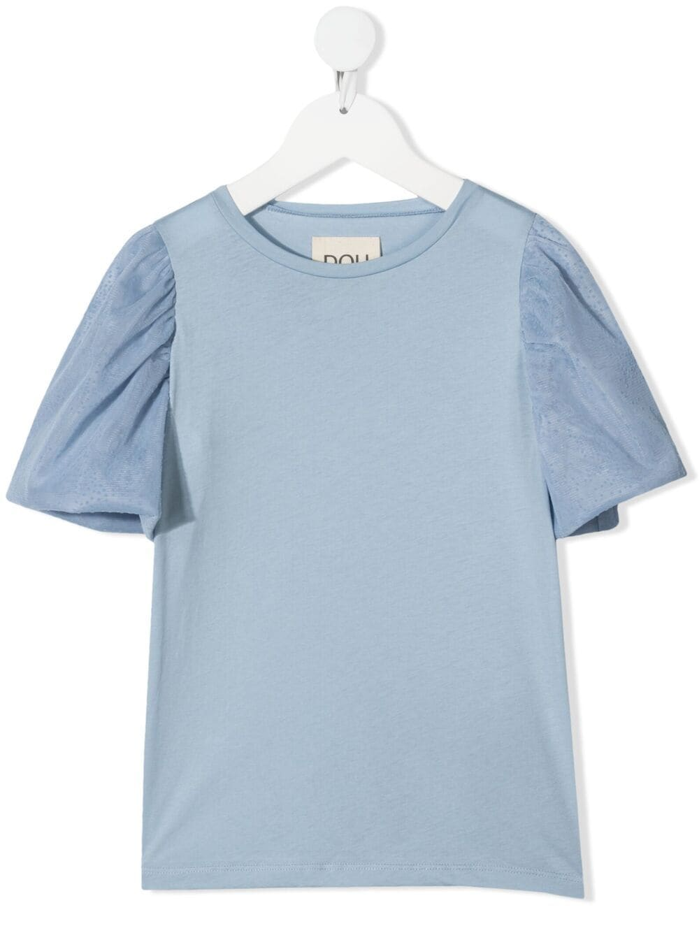 Douuod Kids tulle sleeve cotton T-shirt - Blue von Douuod Kids