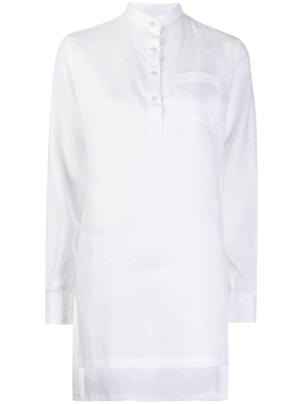 Eleventy chest-pocket blouse - White von Eleventy