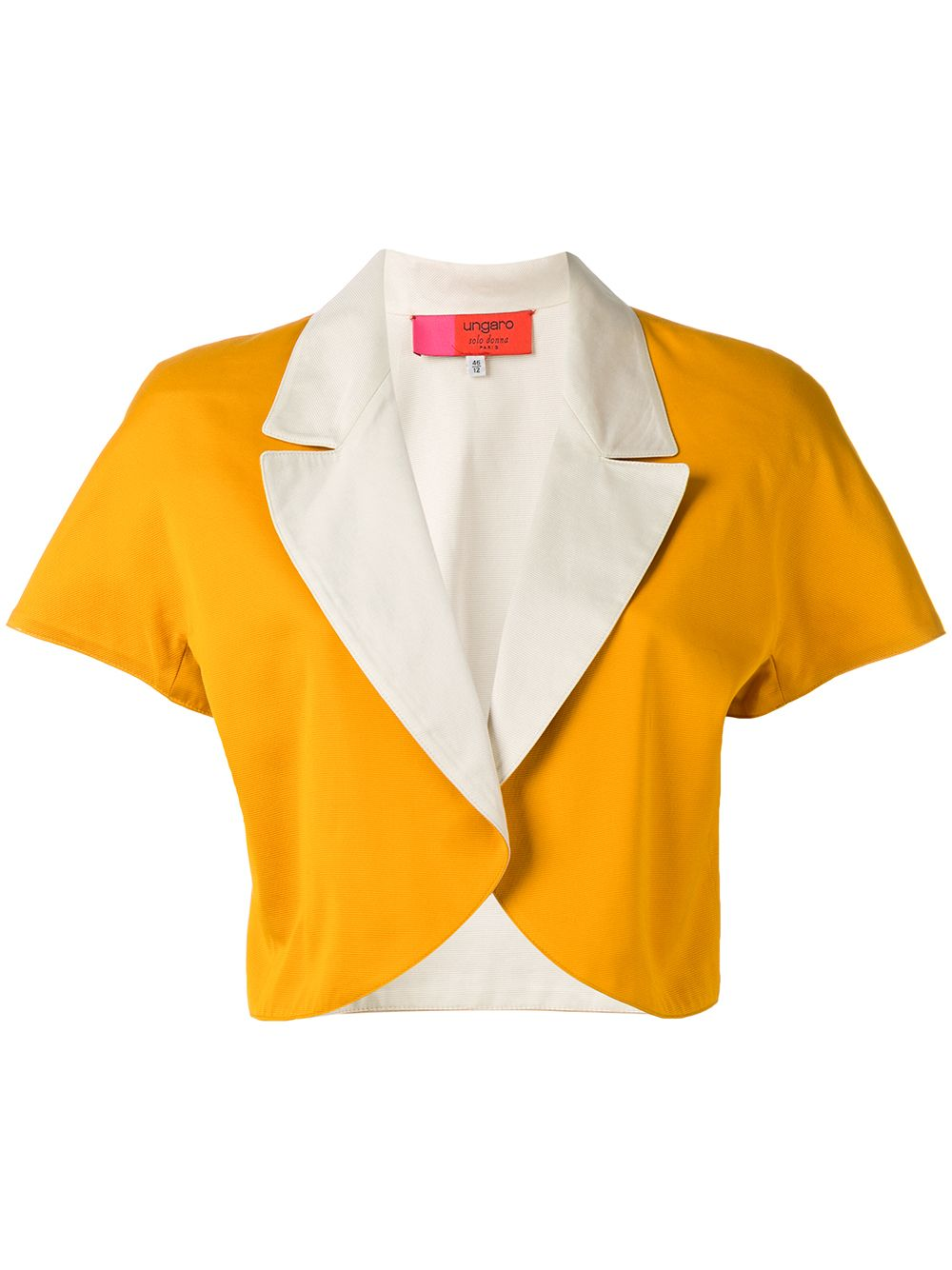 Emanuel Ungaro Pre-Owned colour block bolero jacket - Orange von Emanuel Ungaro Pre-Owned