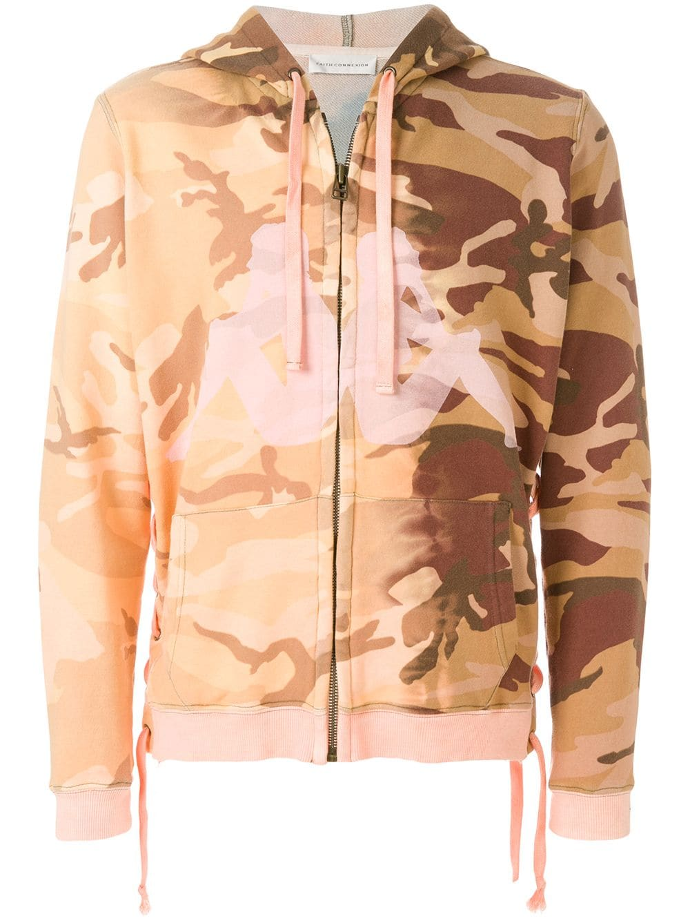 Faith Connexion Kappa camouflage hoodie - Yellow von Faith Connexion
