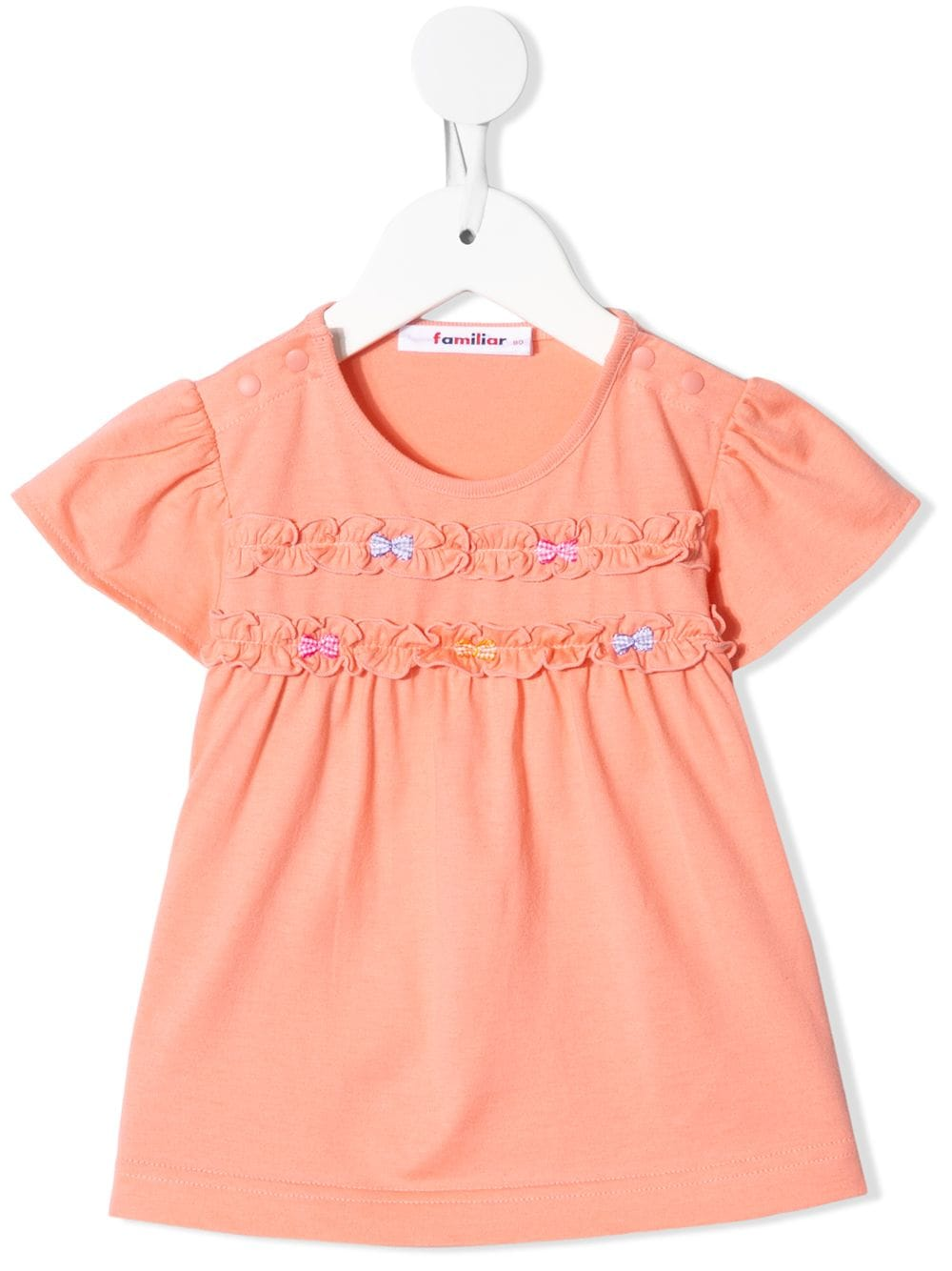 Familiar bow-detail ruffle top - Pink von Familiar