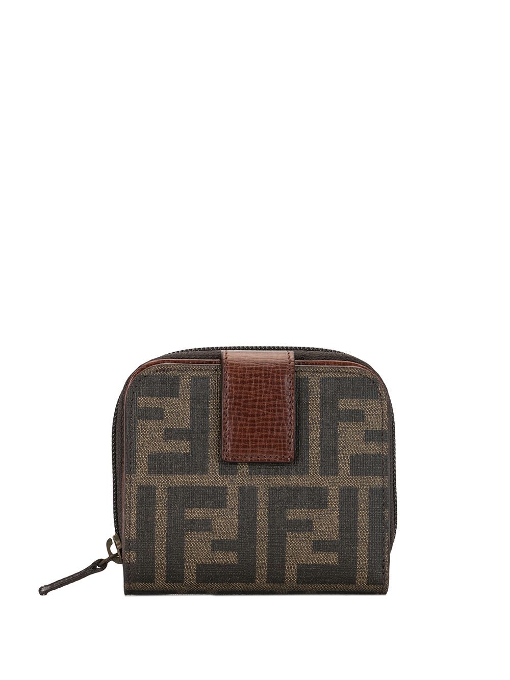 Fendi Pre-Owned Zucca bifold zipped wallet - Brown von Fendi Pre-Owned