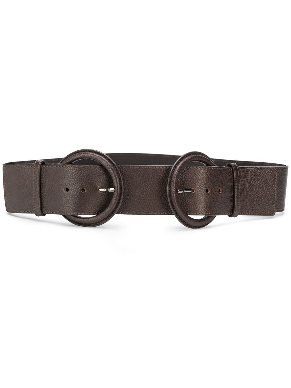 Gianfranco Ferré Pre-Owned 2000s double buckle belt - Brown von Gianfranco Ferré Pre-Owned