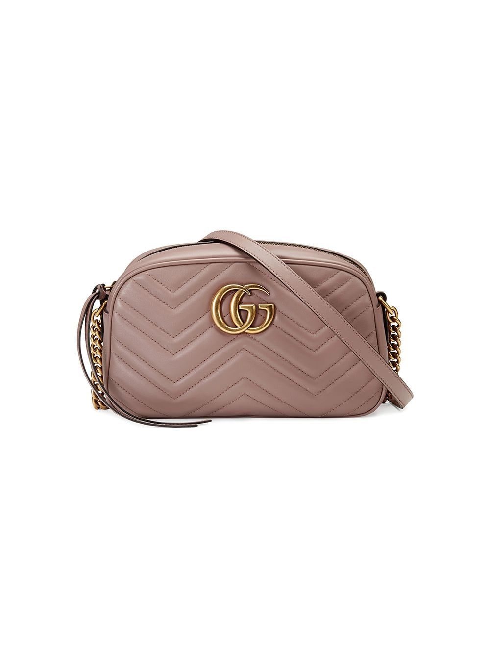 Gucci small GG Marmont matelassé shoulder bag - PINK von Gucci