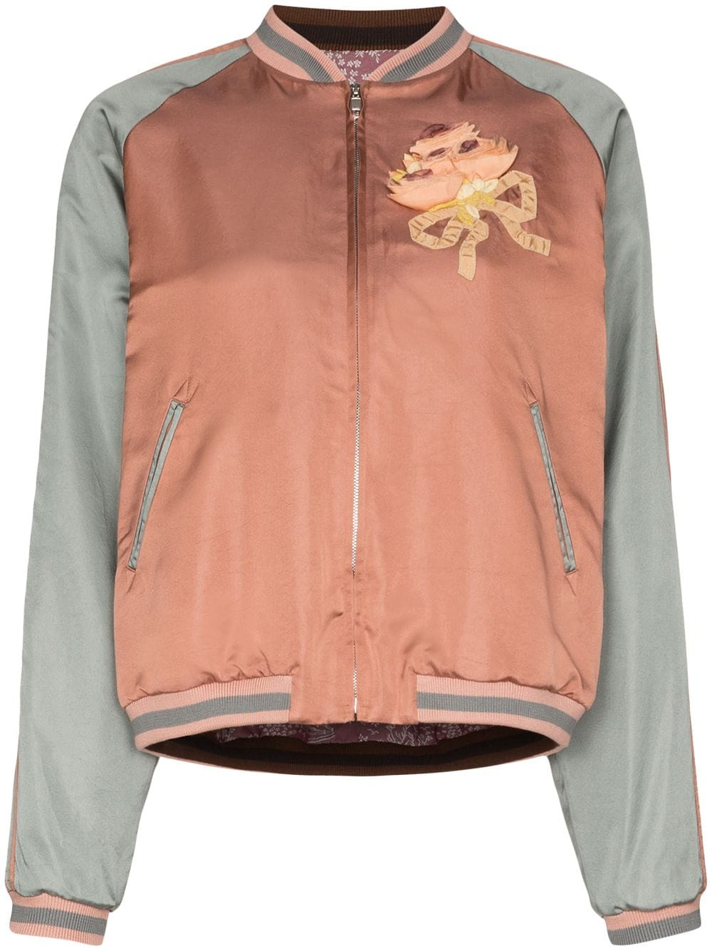 Gucci sequin cat face bomber jacket - PINK von Gucci
