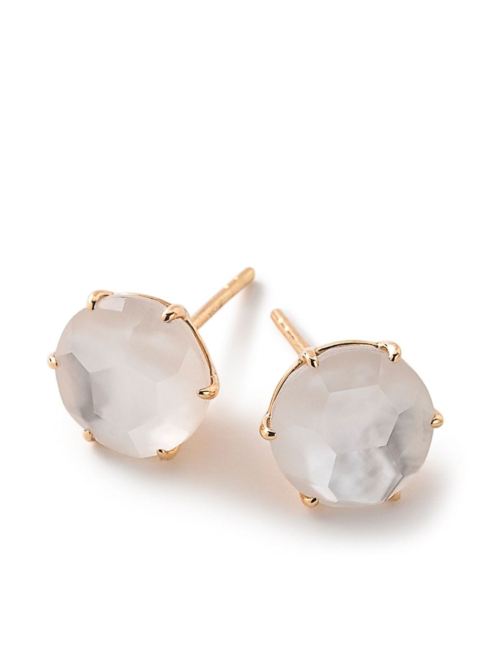 IPPOLITA 18kt yellow gold medium Rock Candy mother-of-pearl and clear quartz studs von IPPOLITA