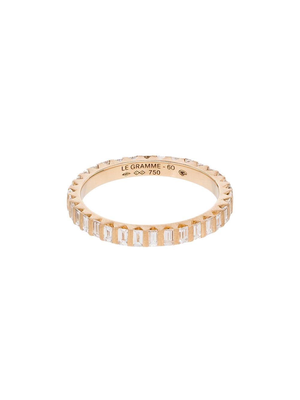 Le Gramme 18kt gold diamond full pave ring von Le Gramme