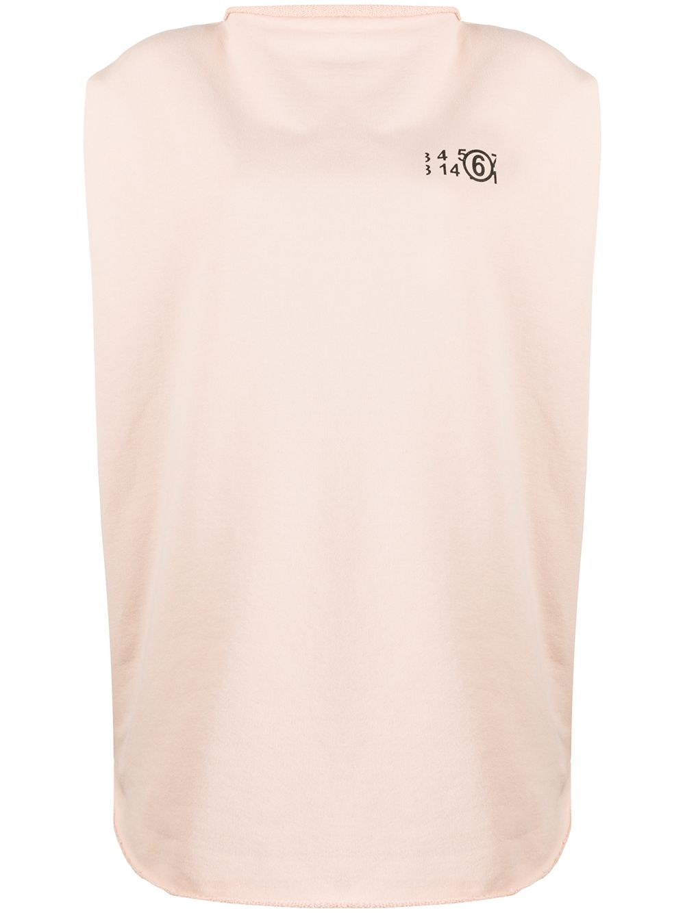 MM6 Maison Margiela number 6 logo cricle print top - Pink von MM6 Maison Margiela