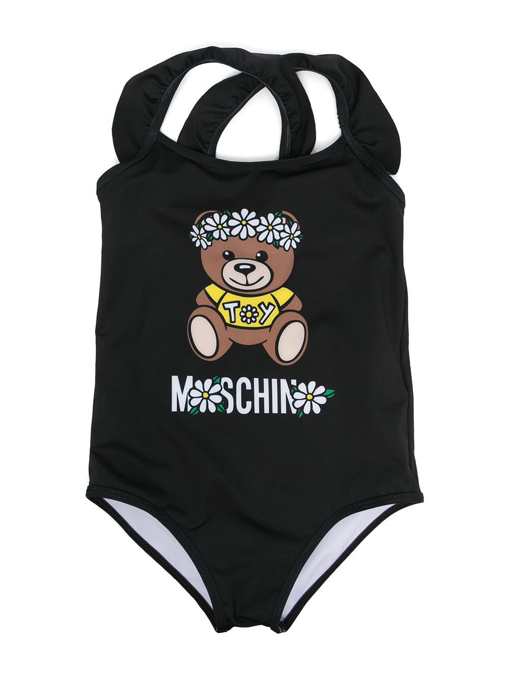 Moschino Kids Teddy Bear print swimsuit - Black von Moschino Kids