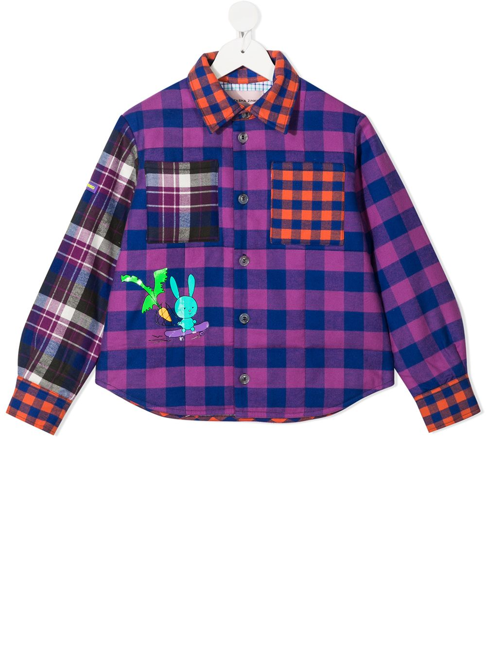 Natasha Zinko Kids plaid check shirt - Purple von Natasha Zinko Kids