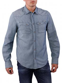 Pepe Jeans Shiels Indigo Light Twill Shirt slate von Pepe Jeans