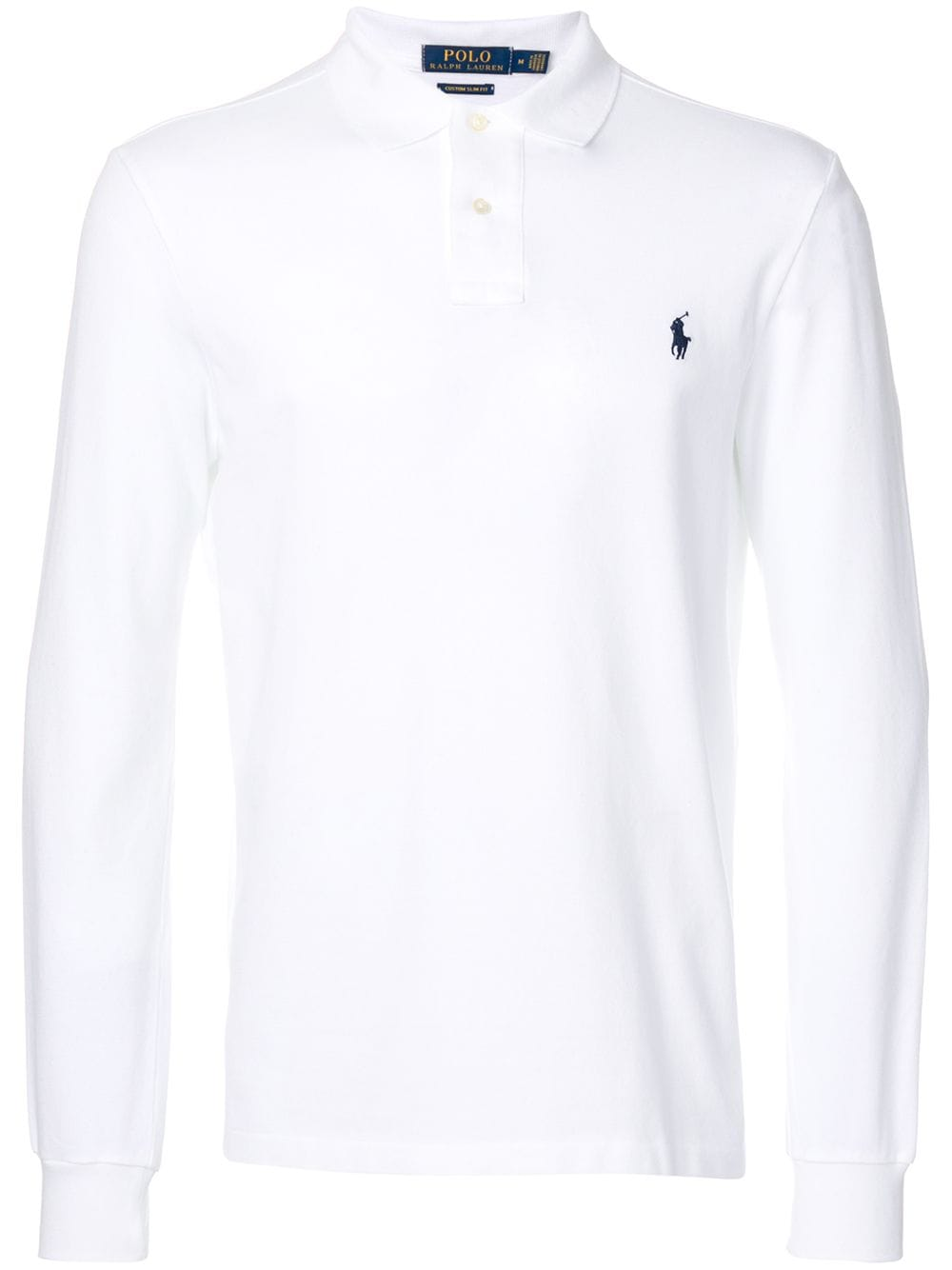 Polo Ralph Lauren longsleeved polo shirt - White von Polo Ralph Lauren