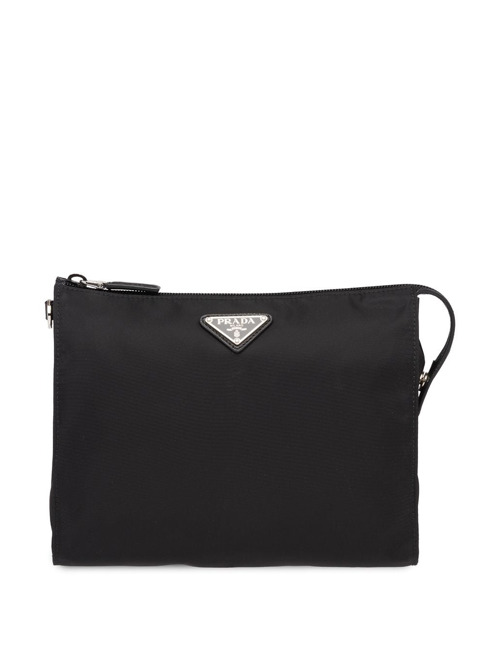 Prada Re-Nylon and Saffiano leather pouch - Black von Prada