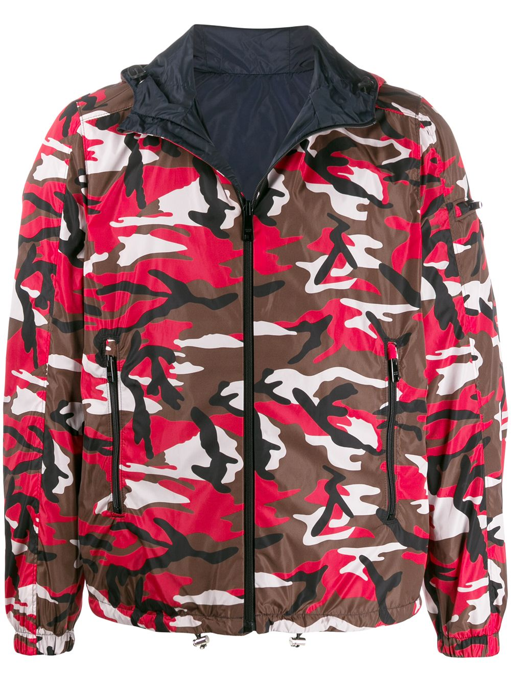 Prada camouflage reversible jacket - Red von Prada