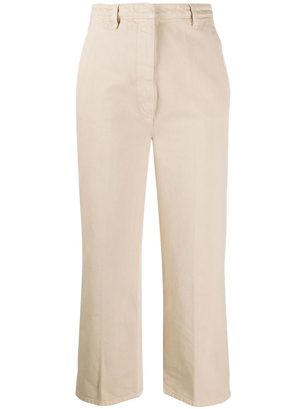 Prada cropped straight trousers - Neutrals von Prada