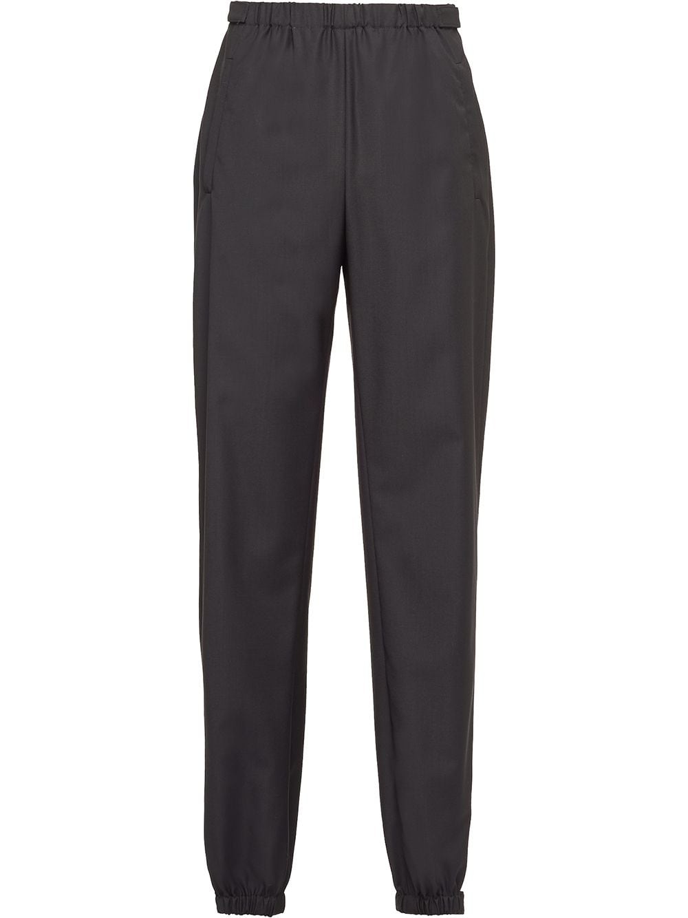 Prada elasticated-waist tapered trousers - Black von Prada