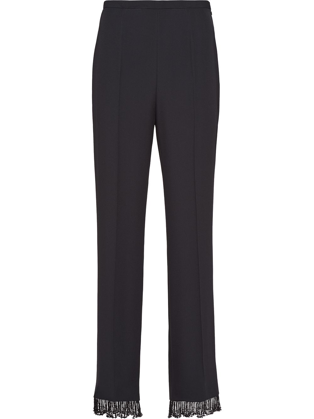 Prada embellished satin sablé trousers - Black von Prada