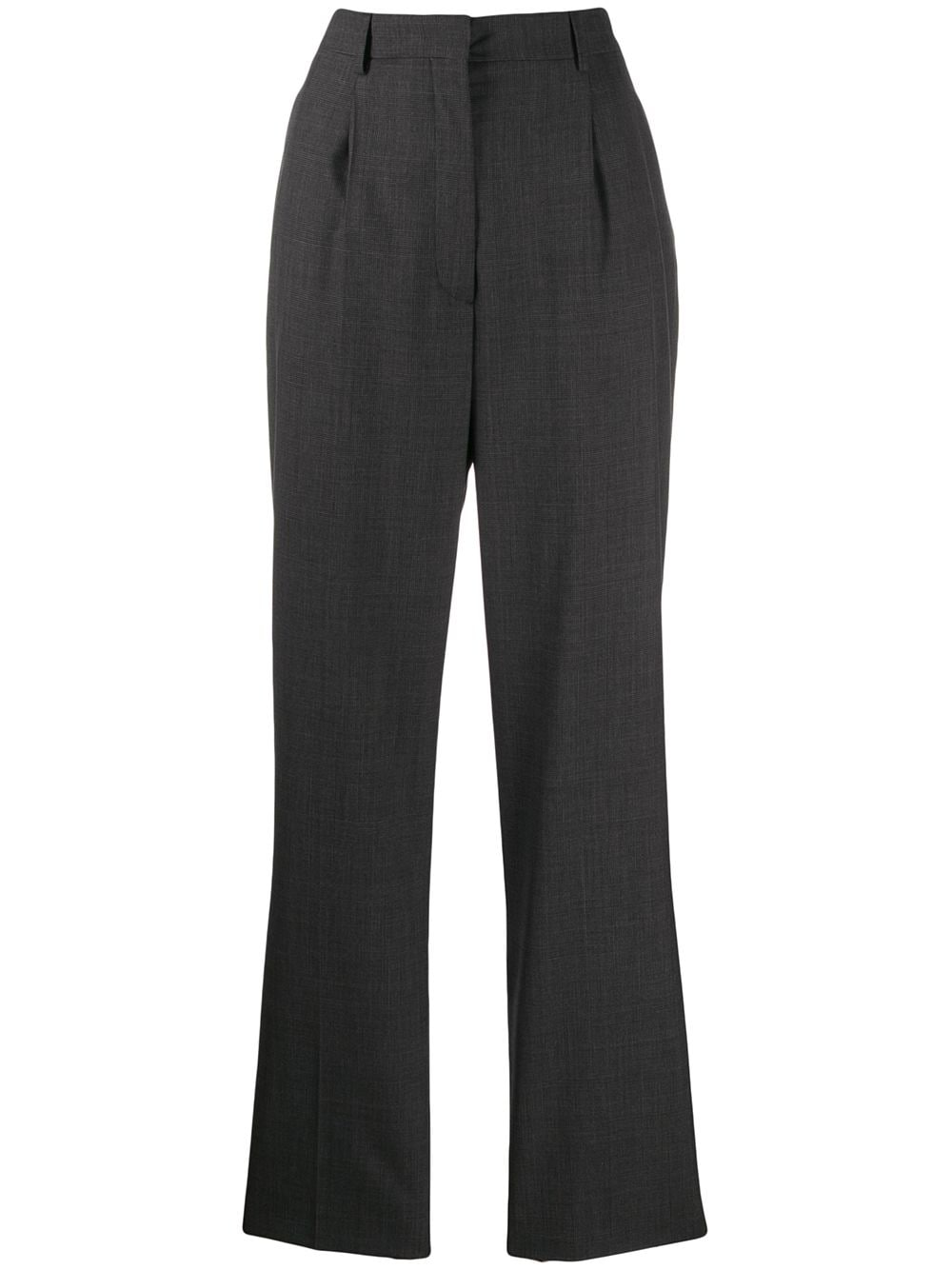 Prada high-waist wool trousers - Grey von Prada