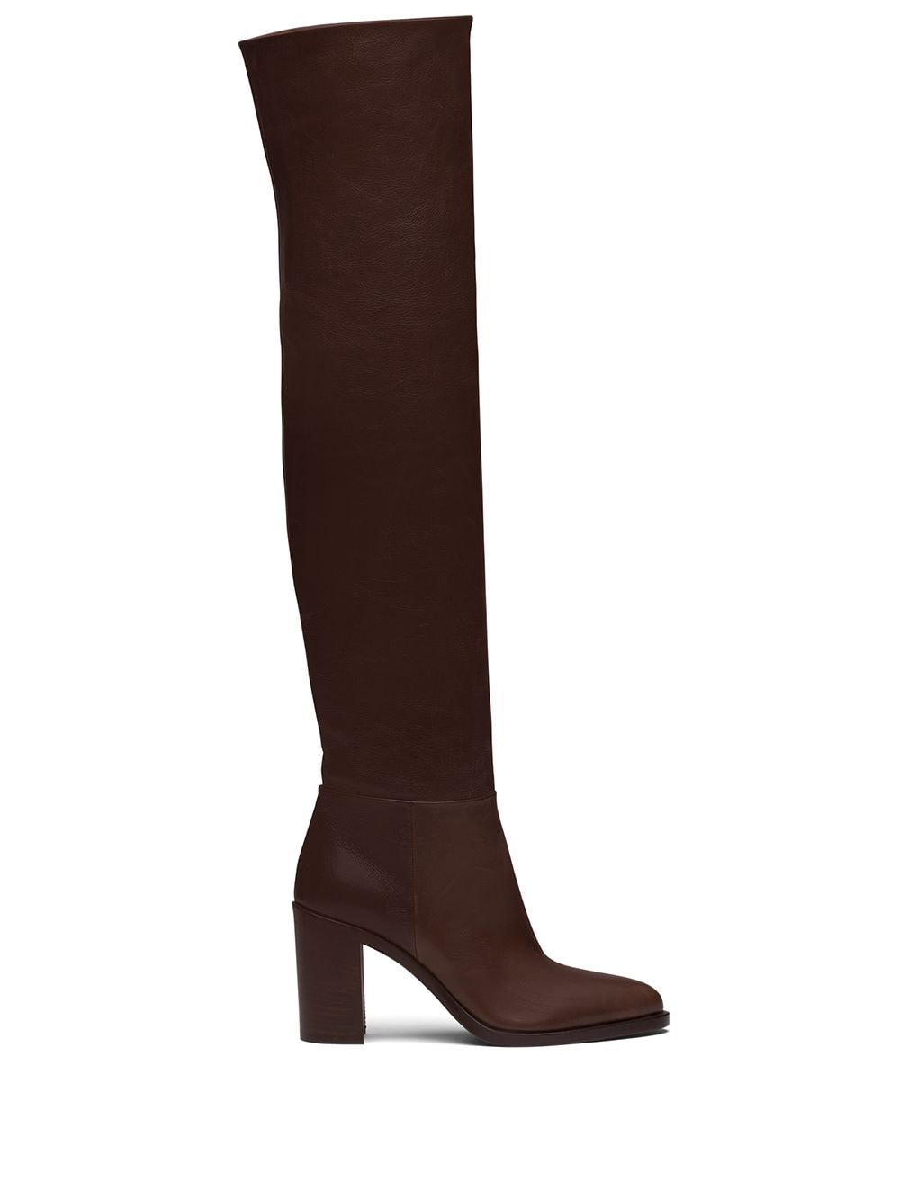Prada knee-length mid-heeled boots - Brown von Prada