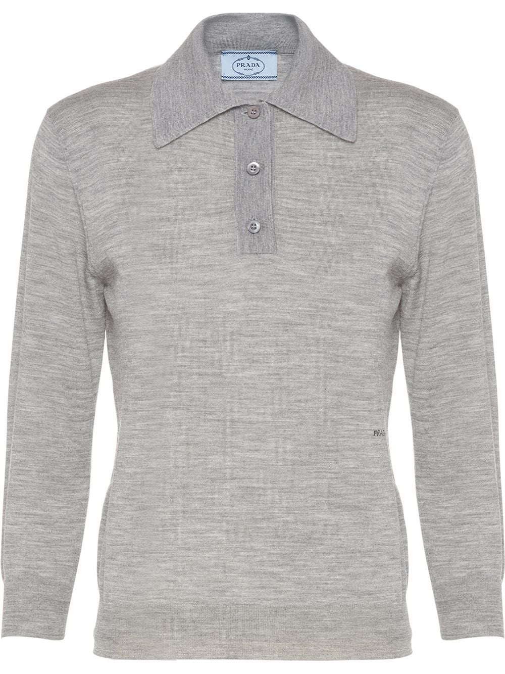 Prada knitted polo shirt - Grey von Prada