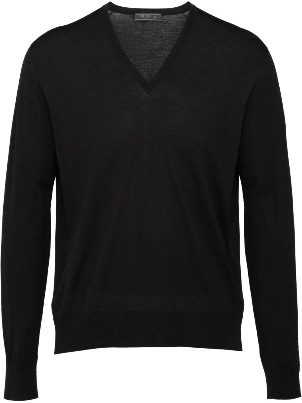 Prada knitted v-neck sweater - Black von Prada