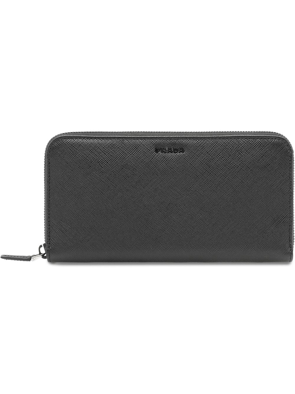 Prada saffiano leather wallet - Black von Prada