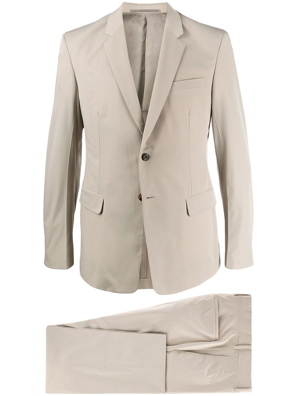 Prada single-breasted two-piece suit - Neutrals von Prada