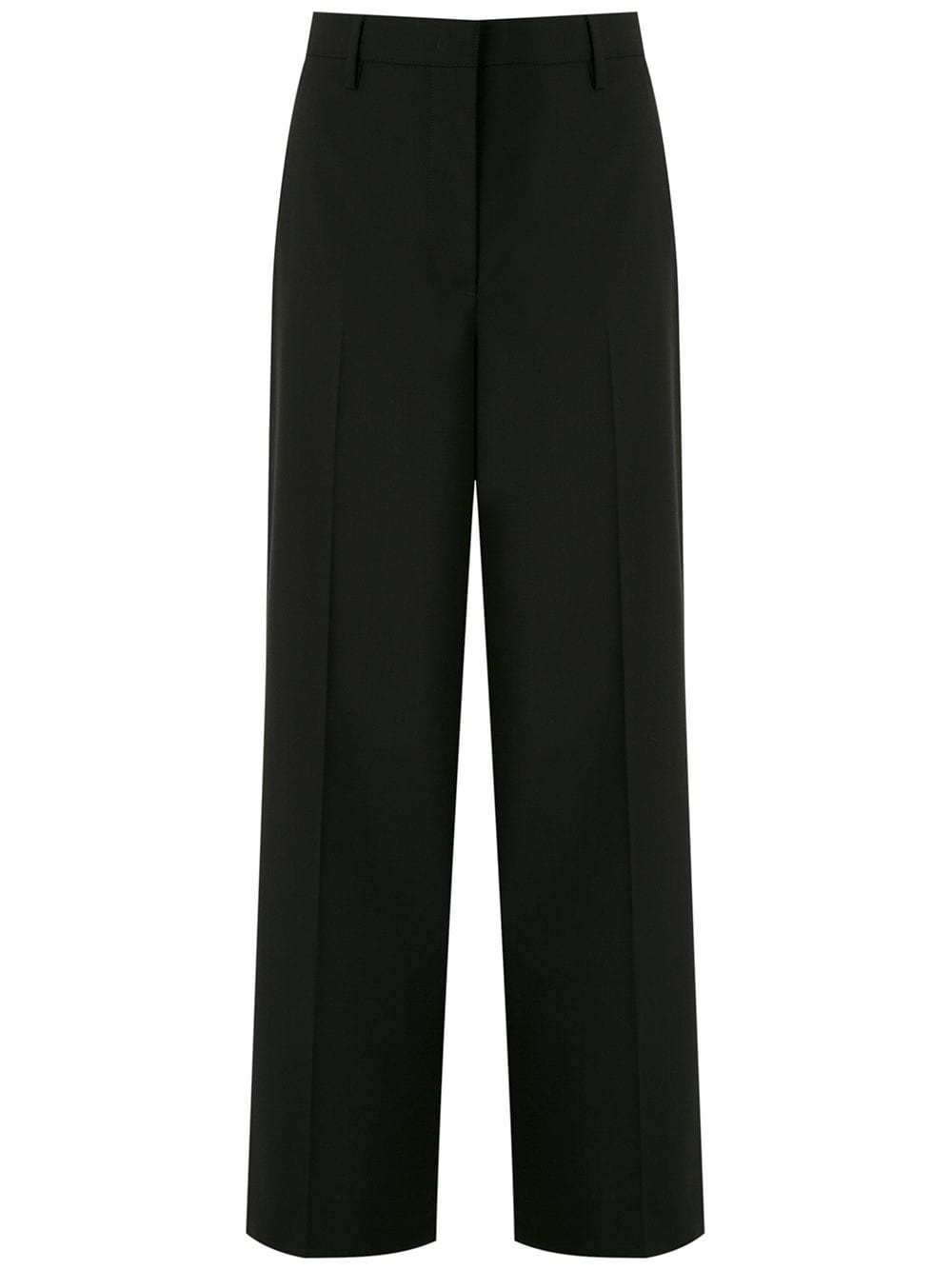 Prada straight leg cropped trousers - Black von Prada