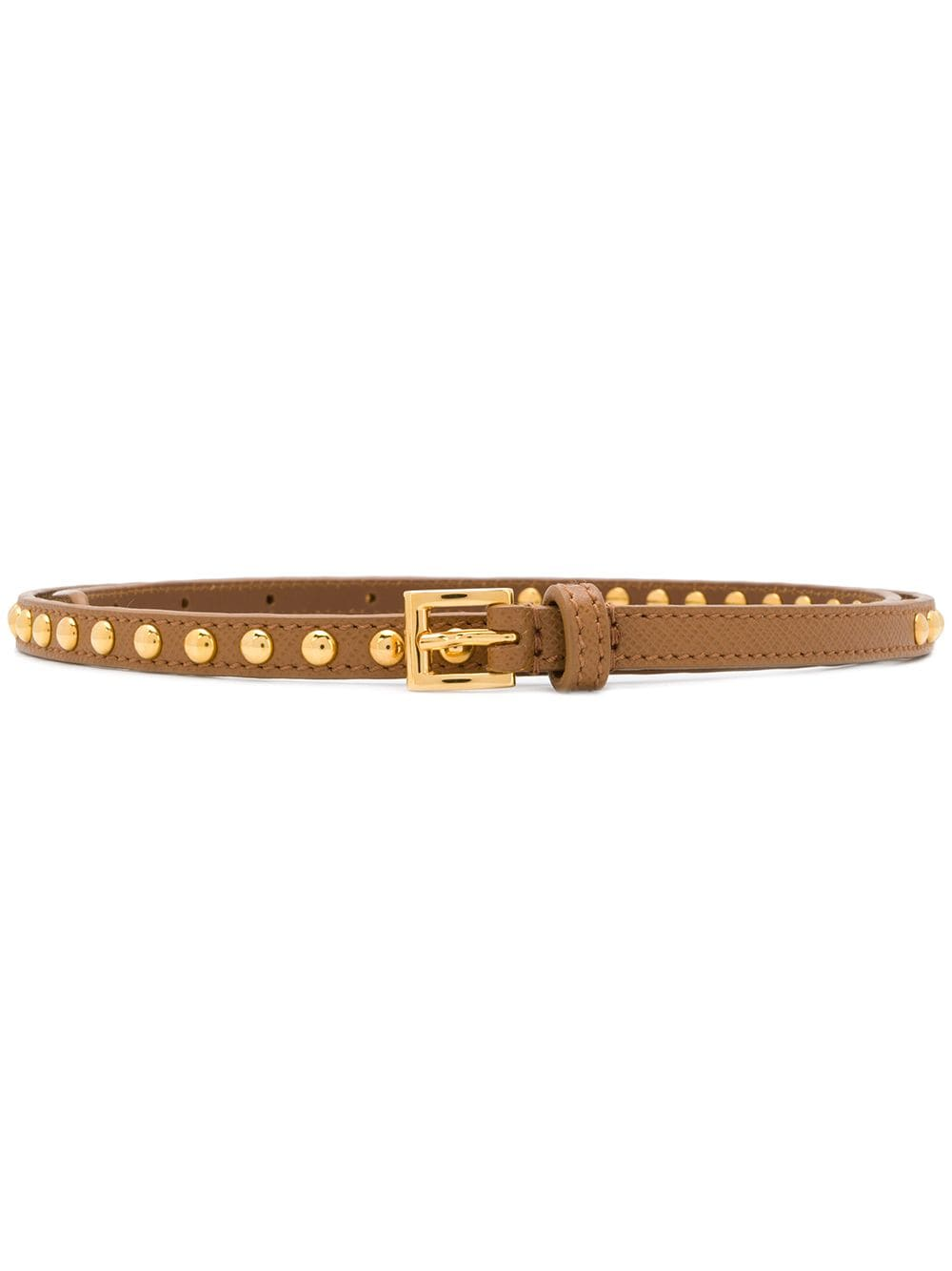 Prada stud detail belt - Brown von Prada