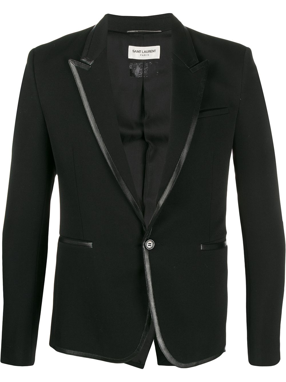 Saint Laurent contrast trim blazer - Black von Saint Laurent
