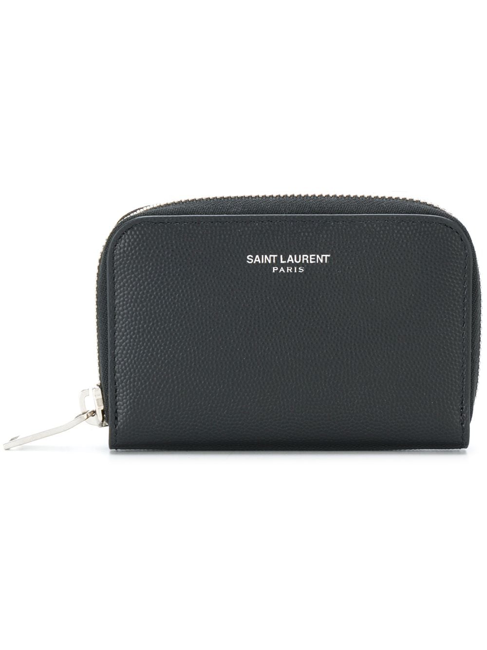 Saint Laurent small zip around wallet - 1000 BLACK von Saint Laurent