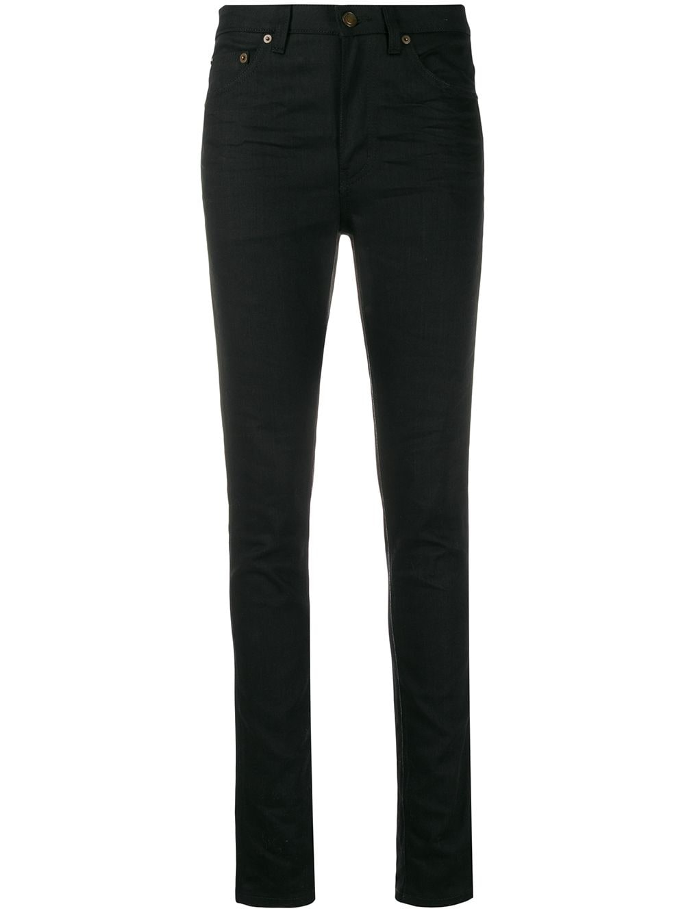 Saint Laurent mid-rise skinny jeans - Black von Saint Laurent