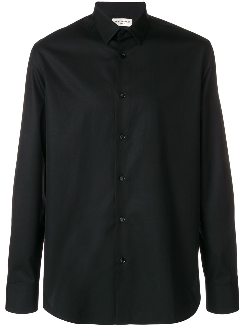 Saint Laurent slim fit classic shirt - Black von Saint Laurent