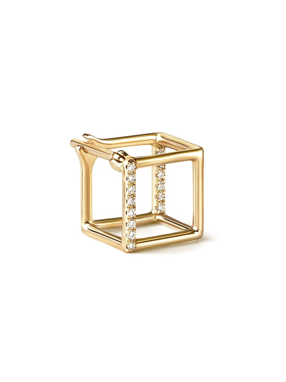 Shihara Diamond Square Earring 7 (01) - Metallic von Shihara